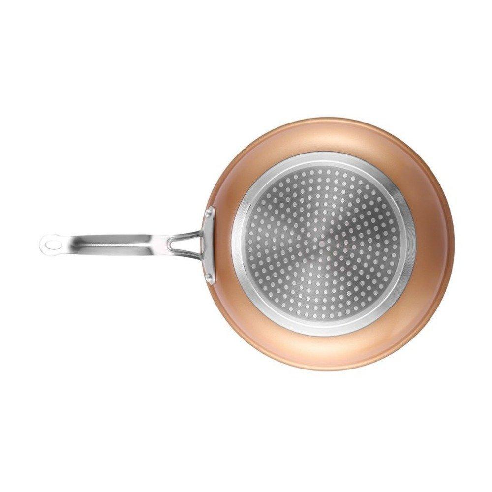 Exclusivo juego de sartenes con revestimiento de cobre ceramica muy resistente.Con certificado LFGB 100 % Organicas Natural Premium.