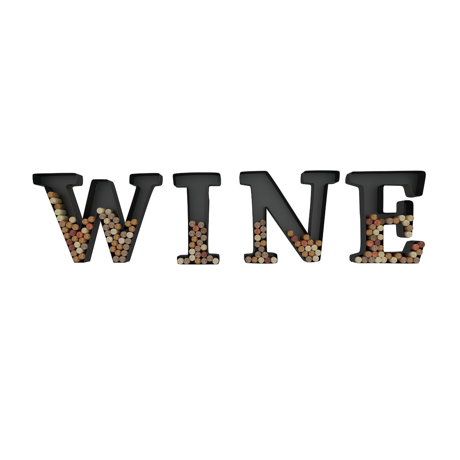 Amazon wine letter cork holder art wall dcor metal all 4 amazon wine letter cork holder art wall dcor metal all 4 letters w i n e gifts for wine lovers includes sample silicone wine glass charm by amipublicfo Images