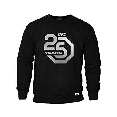 ufc 25th anniversary large logo silver foil sweatshirt black rh amazon co uk 25th Anniversary Graphics 25th Anniversary Backgrounds