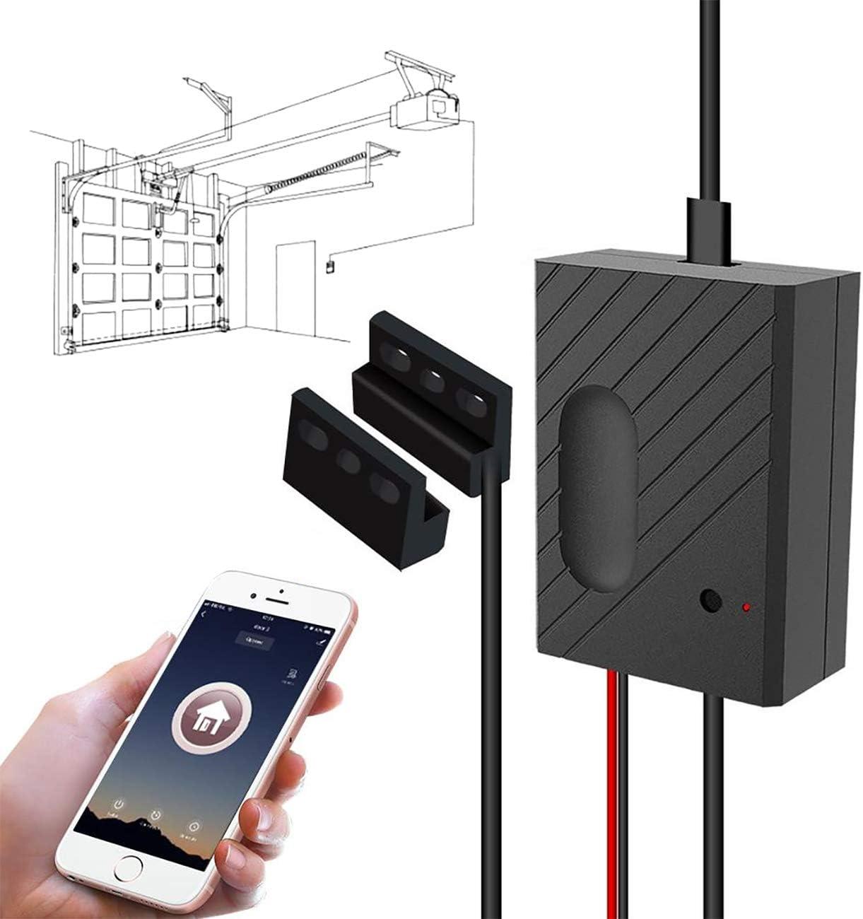 TEEKAR Smart Garage Door Opener Remote WiFi Garage Door Switch Controller Compatible with Alexa Siri Google Home IFTTT
