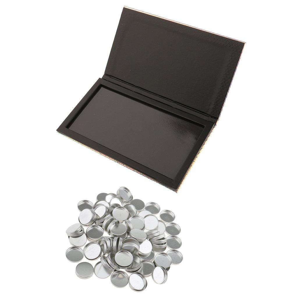 100pcs Pan Metallo Vassoio Baosity 1pc Scatola Palette di Trucco Magnetico Vuoto per la Polvere di Ombretto Premuto Blush Unguento