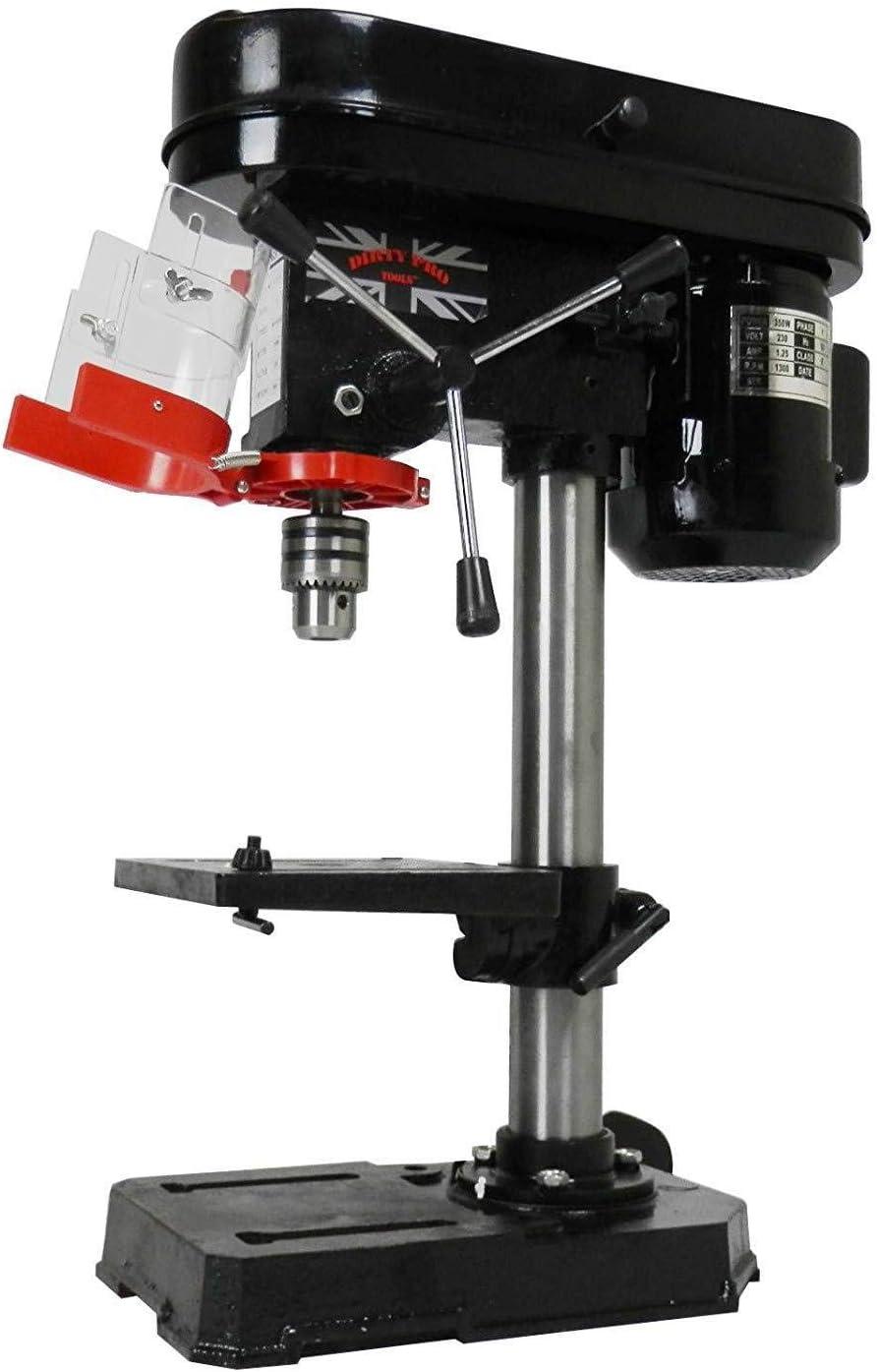 Benchtop Drill Press 9 Speed Pillar Drilling Stand 16mm Chuck Gauge Workbench UK