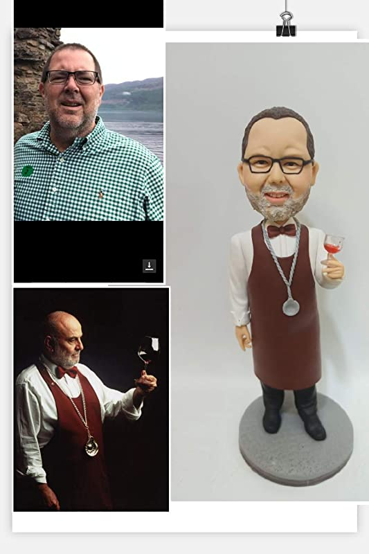 Custom Chef Bobblehead Figurine Personalized Occupational Gifts Valentines Day Gift Business Gift Father Gift Boyfriend Gift Friends Gifts Based on Your Photos for Christmas Day