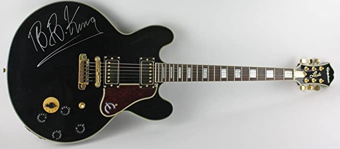 B B King Autographed Gibson Epiphone Lucille Guitar At Amazon S
