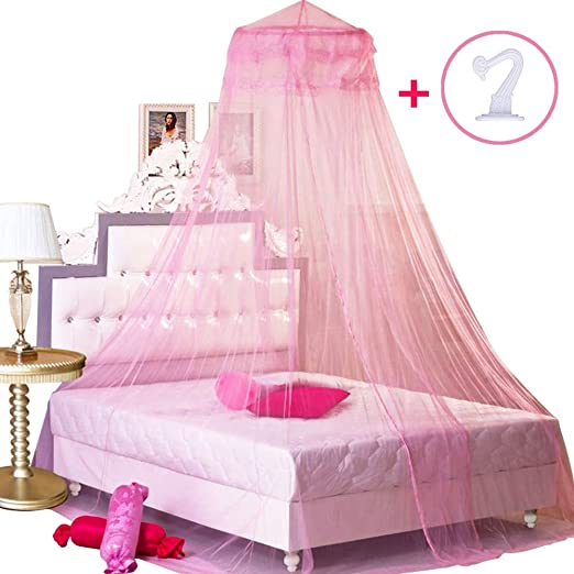 Princess Tent Bed Curtain Mosquito Ceiling-Mounted Installation with Hook Queen