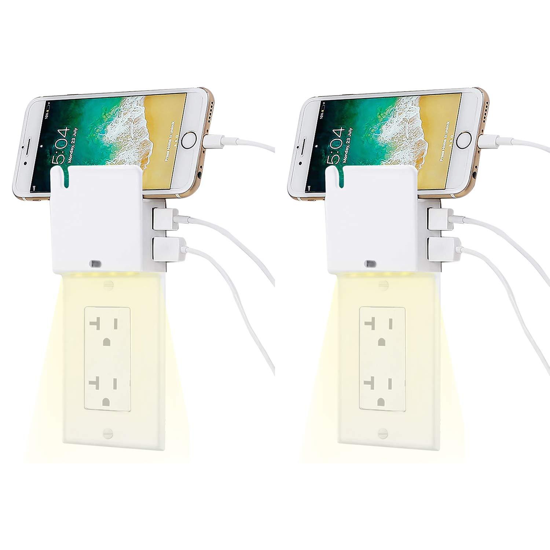 【特別訳あり特価】 BESTTEN ライトスイッチ B07J9N98WK with USB 8_Decor Wall Plate with 2PK Yellow Night Light and USB 2PK 8_Decor Wall Plate with Yellow Night Light and USB 2PK, はぐまむ hugmamu:84a3a400 --- a0267596.xsph.ru