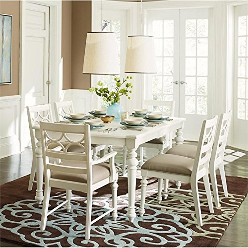 American Drew Lynn Haven 7 Piece Extendable Dining Set in White