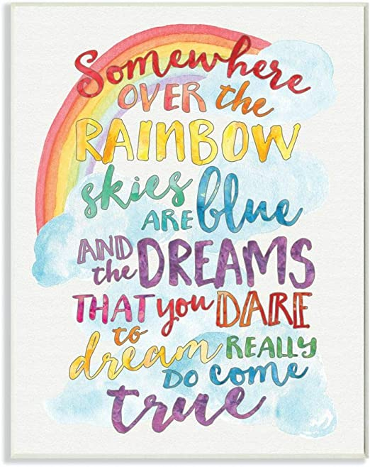 Poster Making A Rainbow Plaque Sign Art Metal Poster Canvas wall art whit