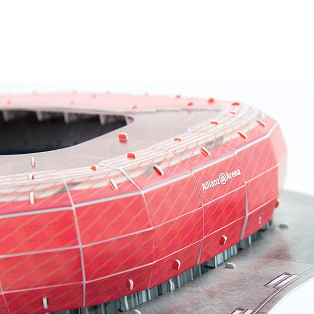3d Stadion Puzzle Allianz Arena Bau Fc Bayern München Fußballarena Replika Rot Spielzeug