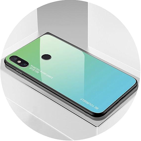 Amazon com: Gradient Tempered Glass Case for Xiaomi Redmi