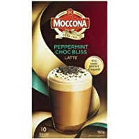 Moccona Instant Coffee Peppermint Choc Bliss Latte - 10 Individuals Sachets (190g x 3 Packs)