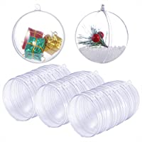 Caydo 15 Set Large Size DIY ABS Plastic Bath Bomb Mold 30 Pieces for Crafting Your Own Fizzles Clear Plastic Ball…