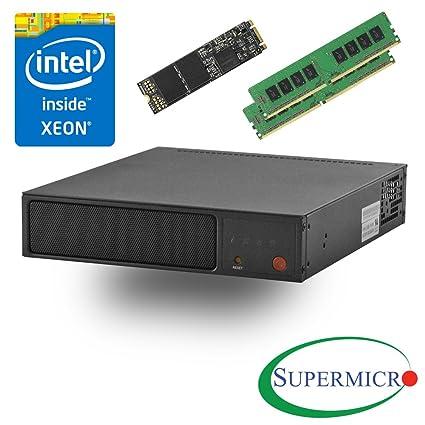 Supermicro SYS-E200-8D Intel Xeon D, 6-Core, 2x10GbE, Mini 1U Server, w/  32G, 512M 2 SSD