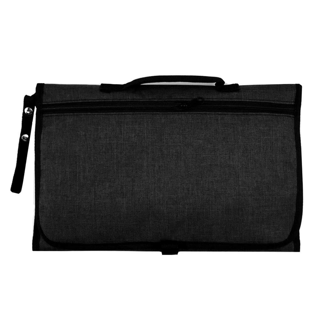 per fasciatoio da viaggio Fasciatoio portatile per pannolini per uso fuori casa 70cmx50cm Blu 60 x 35 x 2 cm impermeabile pieghevole Laamei materassini e coperte