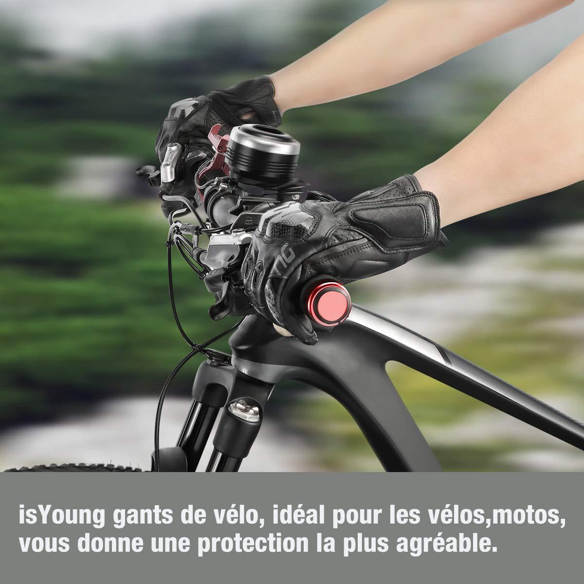 isYoung Gants Cyclisme Doigt Complet Gants Vélo de Bonne Elasticité et Forte Adsorption, Idéal pour Equitation, Randonnée, Escalade, Camping pour Motocross Course VTT (Blanc, L)