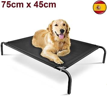 ENJOY Cama para perros gatos mascotas elevada DE 75 X 47 cm en acero portatil desmonta: Amazon.es: Productos para mascotas