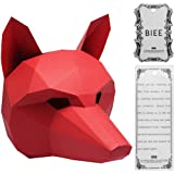 BIEE Máscara de Papel 3D moldes de Cabeza de Animal para Halloween Fiestas Disfraces Cosplay Papel Facial Kit de…