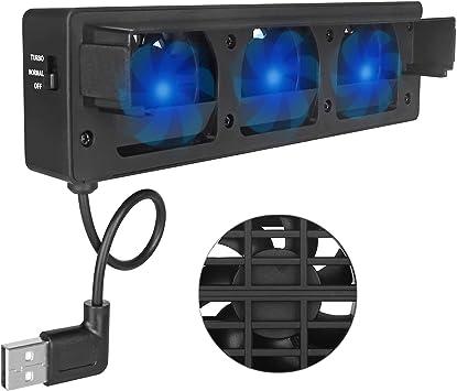 Invero - Ventilador de refrigeración Externo USB con 3 ...