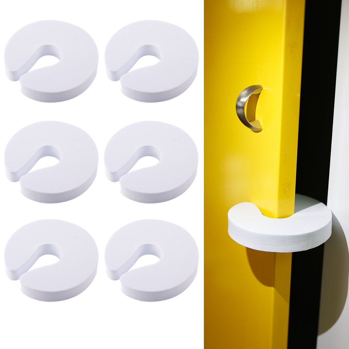Tonyko 7 PCS Tope Clip Protector Puerta Dedos Seguridad Pa Beb/é Baby