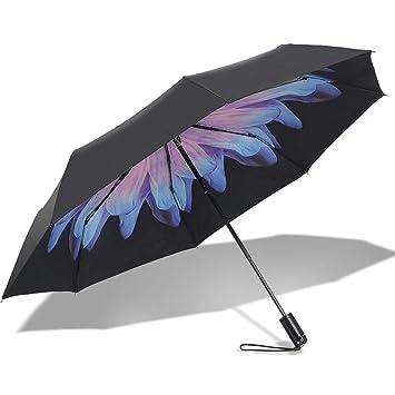 WOSOSYEYO Kingjoy Paraguas Impermeable a Prueba de Rayos UV con Selfie Stick para teléfonos Inteligentes (