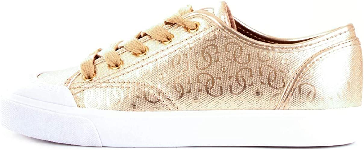 GUESS Gitney3 Trainers Women Gold Low