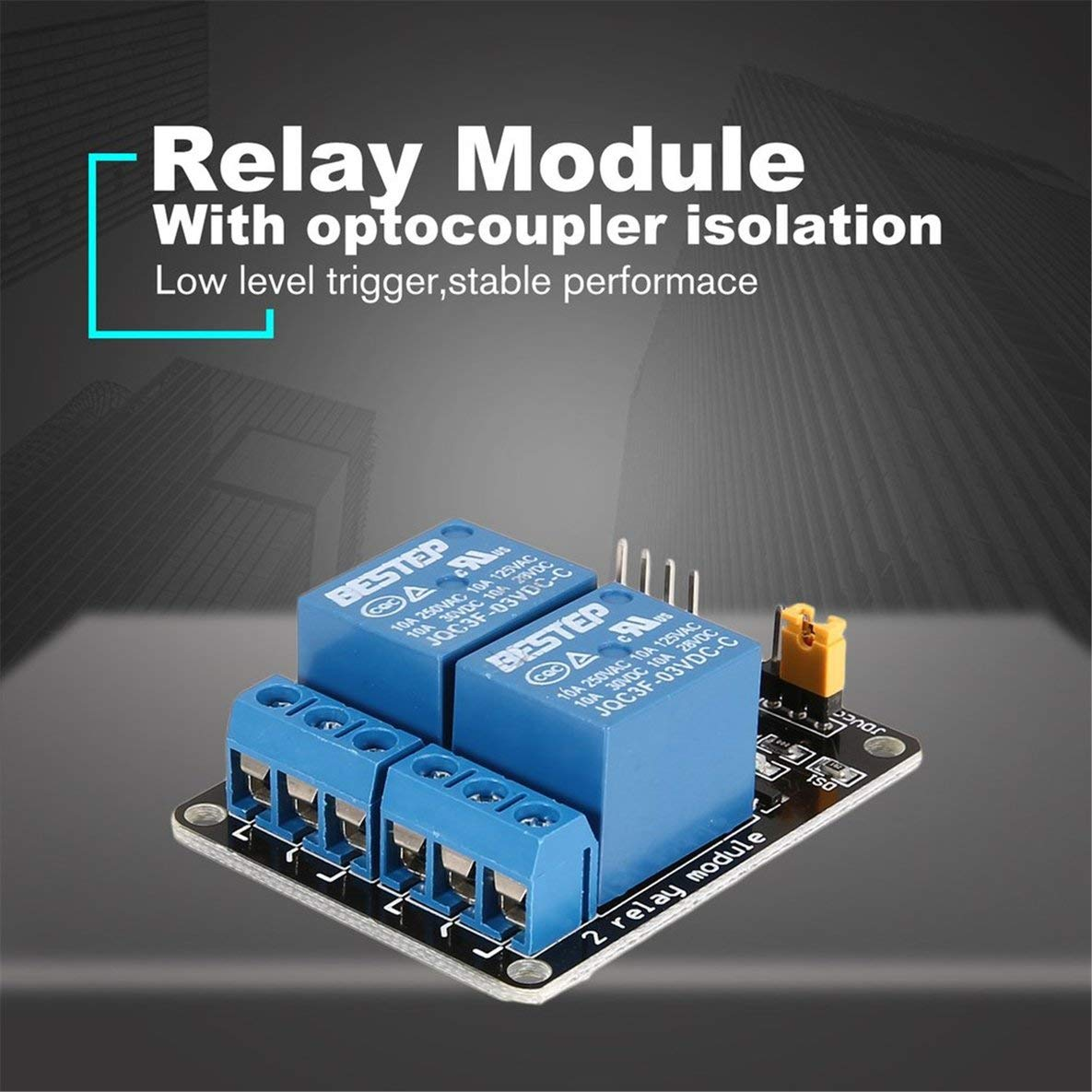 Noradtjcca 3V 2 Channel Relay Module Interface Board Low Level Trigger Optocoupler for Arduino SCM PLC Smart Home Remote Control Switch