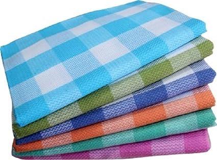 Cotton Colors Cotton Bath Towels, 30x60 Inches (Multicolour) - Set of 6