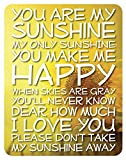 Cheap Lake House Products 14 x 18-Inch Wood You Are My Sunshine Sign, Yellow Background/White Font