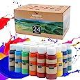 Artecho Acrylic Paint Set of 24 Color Paints, Halloween Decorations, 2Ounce/59ml Vibrant Acrylic Paint for Art Paint, Decorat