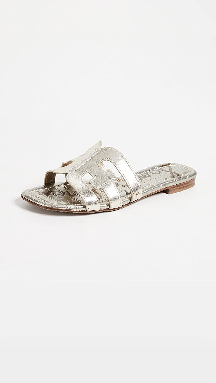 Sam Edelman Women's Bay Slides Jute Metallic Leather