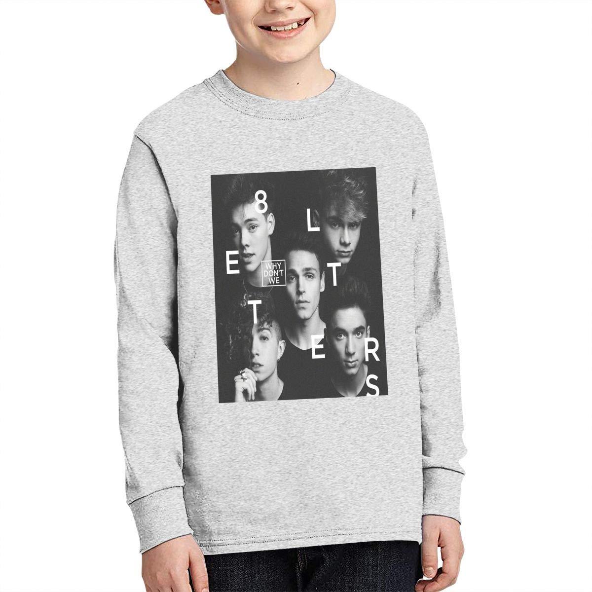 Nvoxklsp Why Dont We Cotton Teen Boys Girls Teenage Tees Shirt