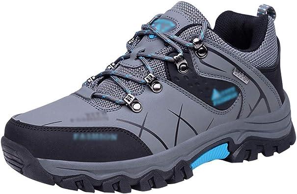 Rengzun Zapatillas de Senderismo para Hombre Impermeables ...