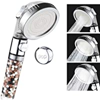 VEHHE Shower Head Anion Filter SPA 3 Modes Adjustable with Stop Button Water Pressurized Shower Head Saving Water Nozzle…
