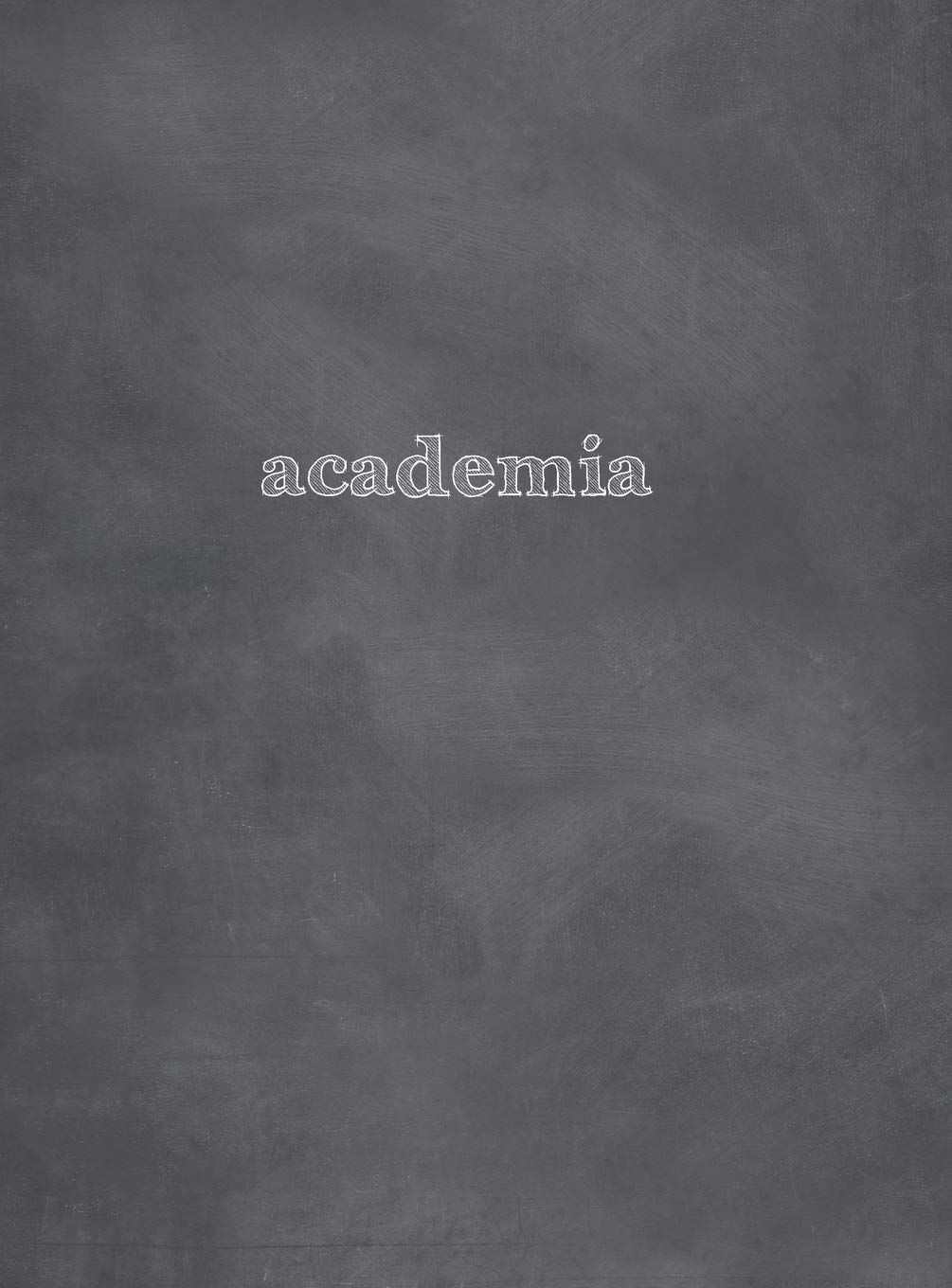 Academia Extended Spring 2019 - Monday Start: 8.5x11 Academic Planner - Chalkboard Cover by Wright Type