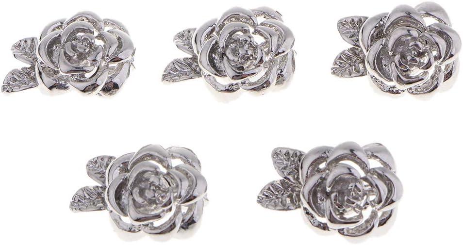 P Prettyia 5pcs Fermoir Magn/étiques en Acier Fleur Connecteurs pour Confection de Bijoux de Breloque Pochette