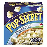Pop Secret 28781 Microwave Popcorn, Homestyle, 1.2 oz Bags, 10 Bags/Box