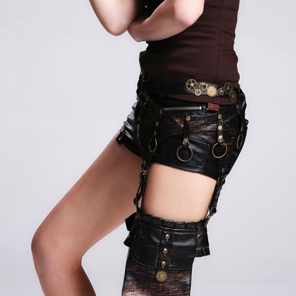 WPYZL Steam punk skull gear belt waist belt legs fashion women by Bumbag&KAIMENDAJI (Image #1)