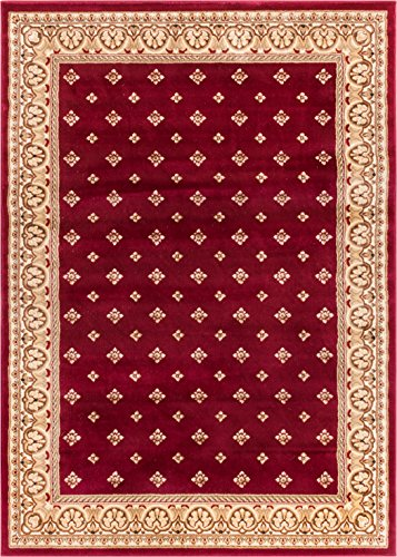 Noble Palace Red French European Formal Traditional Area Rug 5x7 ( 5'3