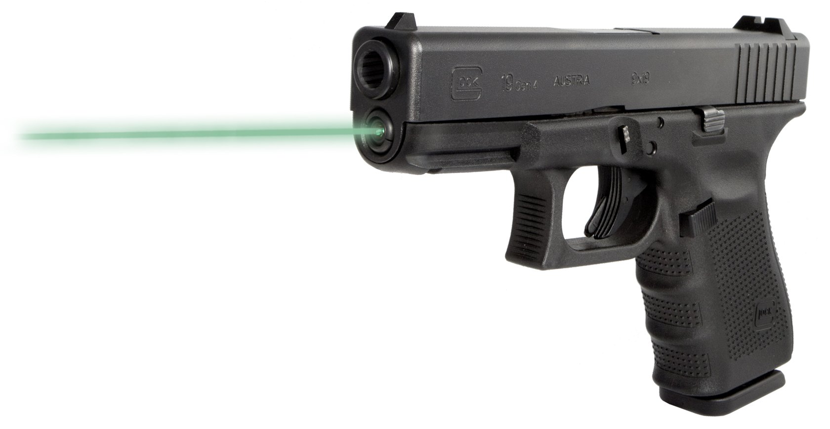 Guide Rod Laser (Green) For use in Glock 19 (Gen4)