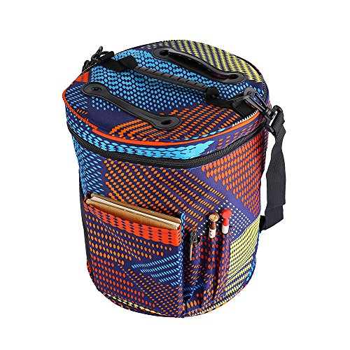Large Knitting Tote Bag for Carrying Skeins Knitting Needles and Crochet Hooks Portable Storage Bag For Yarn Accessories Prevents Tangling (Mixed) by CCF