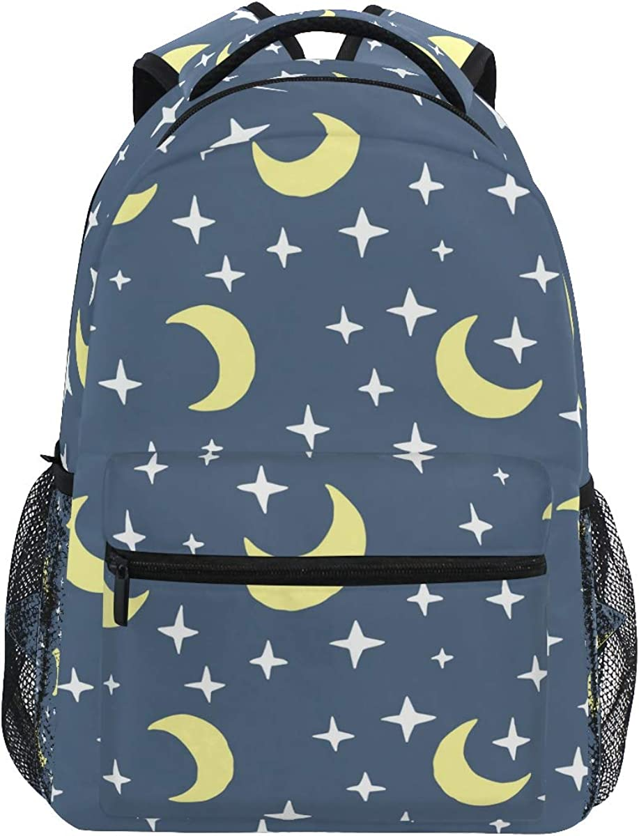 l3 Travel Computer Bag for Women /& Men Moon And Star Laptop Backpack College School Bookbag Backpack for Students