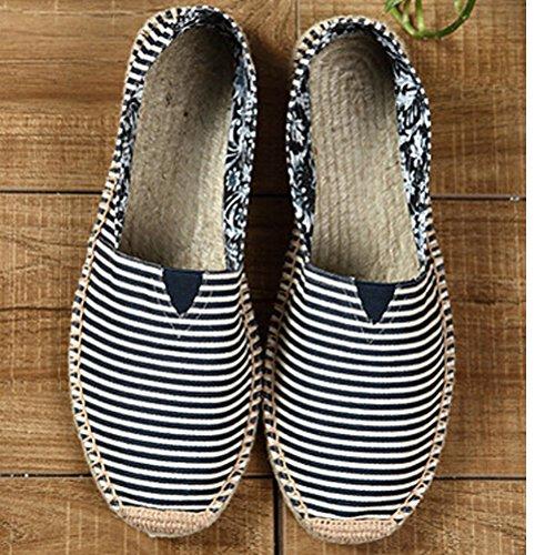 Vogstyle Unisex Adulto Zapato Flats Ballerinas Slip-On Zapatos de Lona Estilo 6-Navy