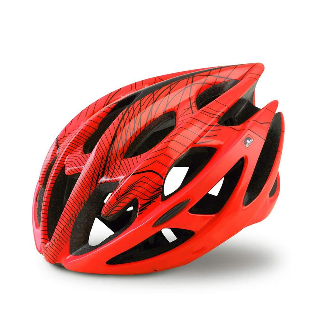 orange Large Fashion Strength Bike Helmet Simple Ultralight Breathable Cycling Safety Hat MTB Road Bicycle Predected Helmets