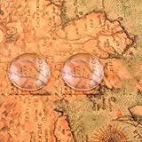 Acmer 200 Pieces Transparent Glass cabochons, Clear