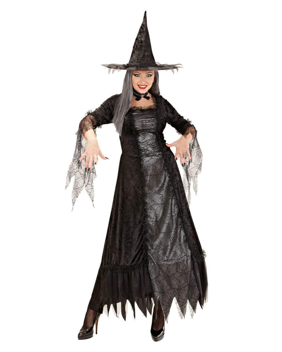 Horror-Shop Spinnenhexe Kleid Deluxe S