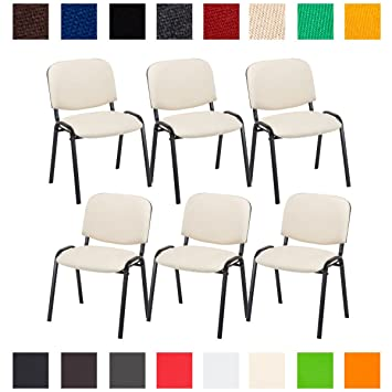 chaise salle a manger tissu couleur empilable