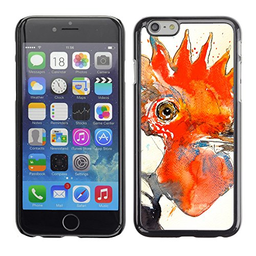 Premio Sottile Slim Cassa Custodia Case Cover Shell // F00026093 Dessin de coq // Apple iPhone 6 6S 6G PLUS 5.5""