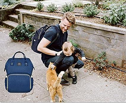 Ticent /& Co baby Windel Wickeltasche Multi-Funktions-wasserdichte Reiserucksack Windel Tragetaschen f/ür Baby Care Dunkelblau wickeltasche gro/ß,Mama Rucksack gro/ße Kapazit/ät mit 12 Taschen /…