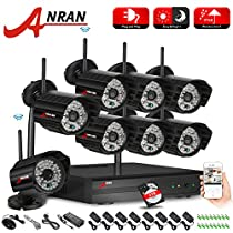 ANRAN 8CH 720P WIFI NVR HD 720P Home Security System with 8 Indoor Outdoor Weatherproof Superior Night Vision HD 720P IP Network Cameras System 2TB Hard Drive