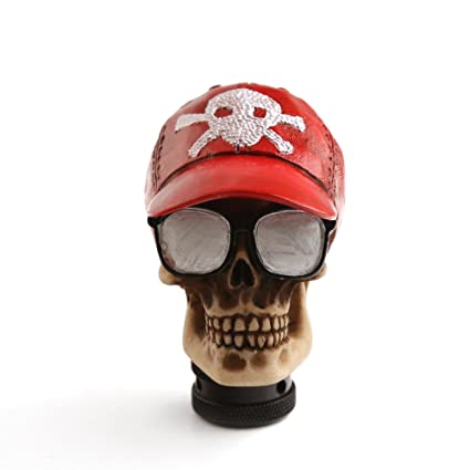 04ea01ed38f Amazon.com  Gear Stick Shift Knob Skull Head - Manual Automatic Car Shifter  Knobs Universal for Most Transmission Vehicles (Baseball Cap Skeleton)  ...